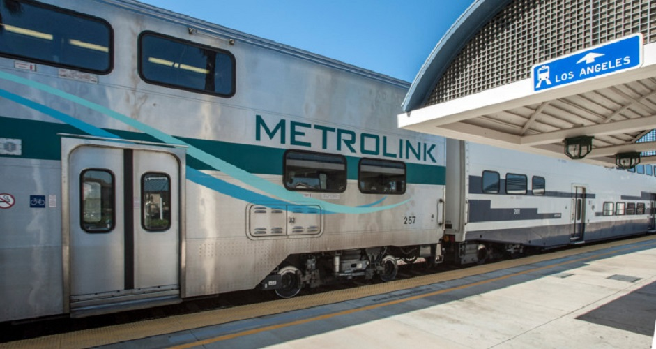 Metrolink train at platform