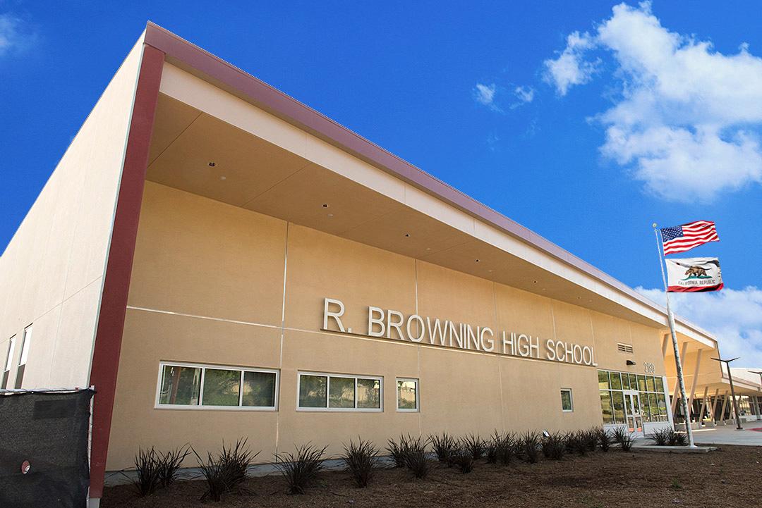 R. Browning High School building