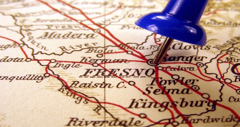 City of Fresno pinned on a map