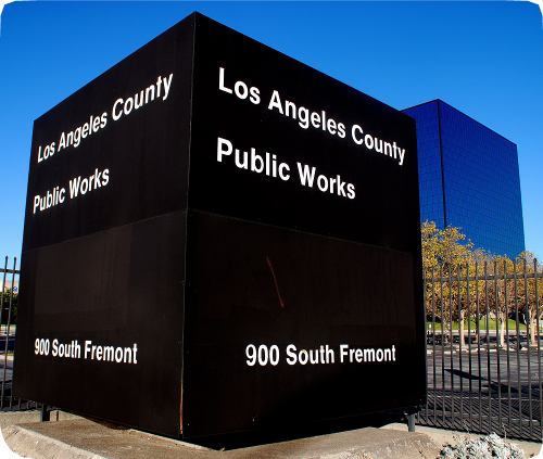 LA County Department of Public Works sign
