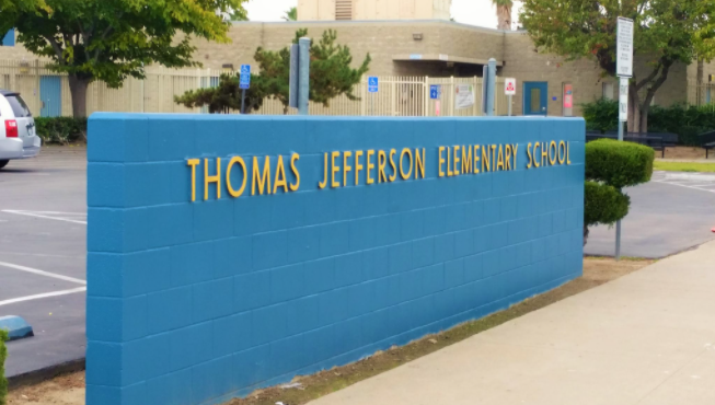 Sign at Thomas Jefferson Elementary School