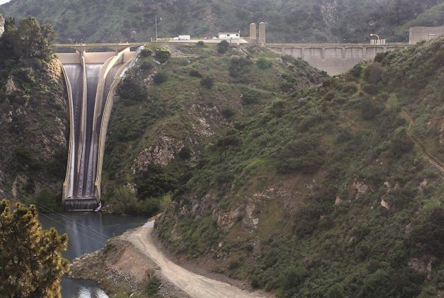 Upper San Gabriel Valley dam